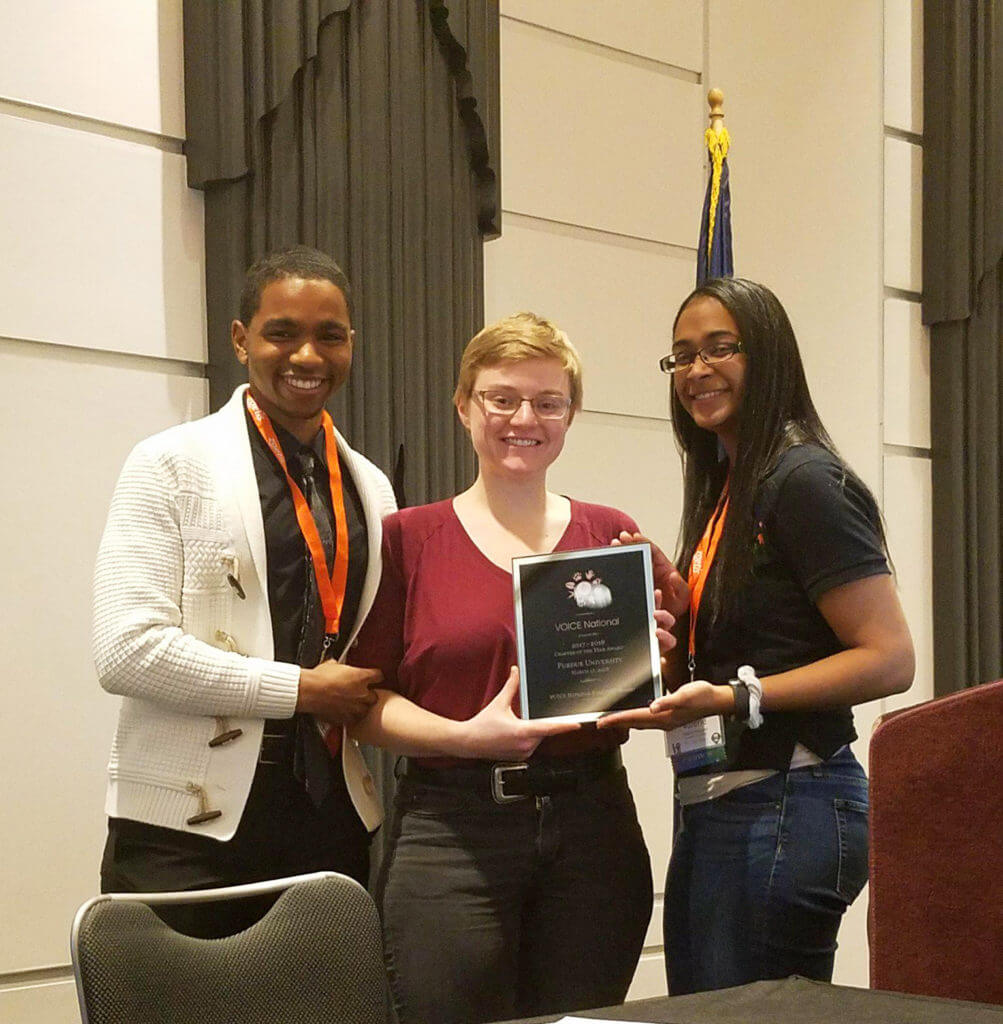 VOICE Chapter of the Year award acceptance