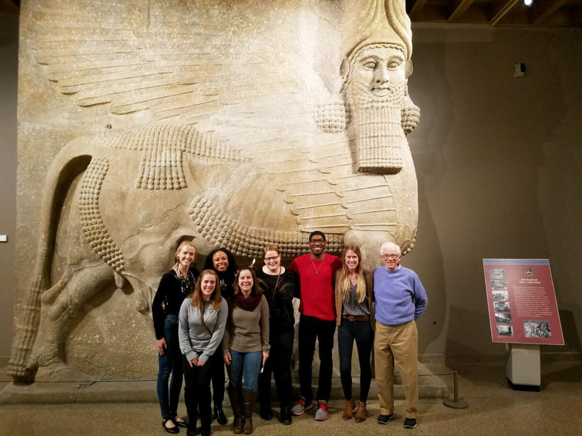 Group ohoto at the Oriental Institute