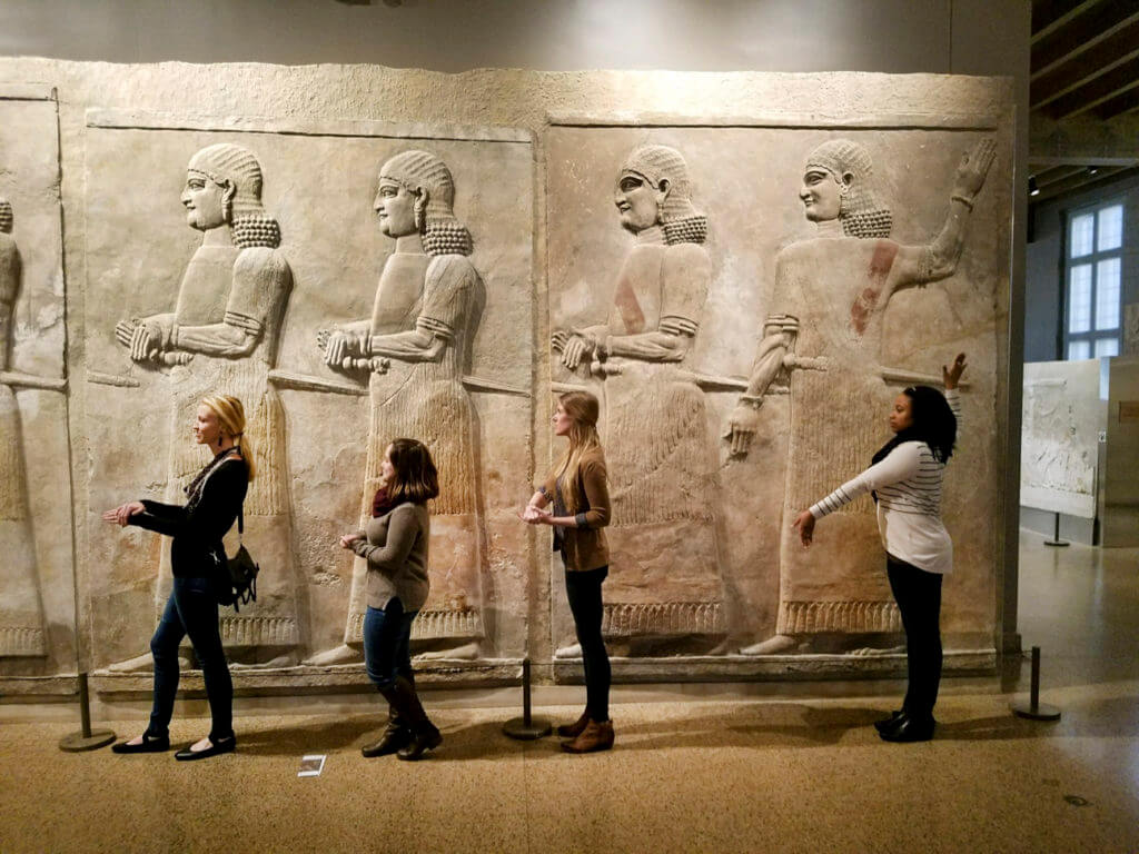 veterinary students at the Oriental Institute