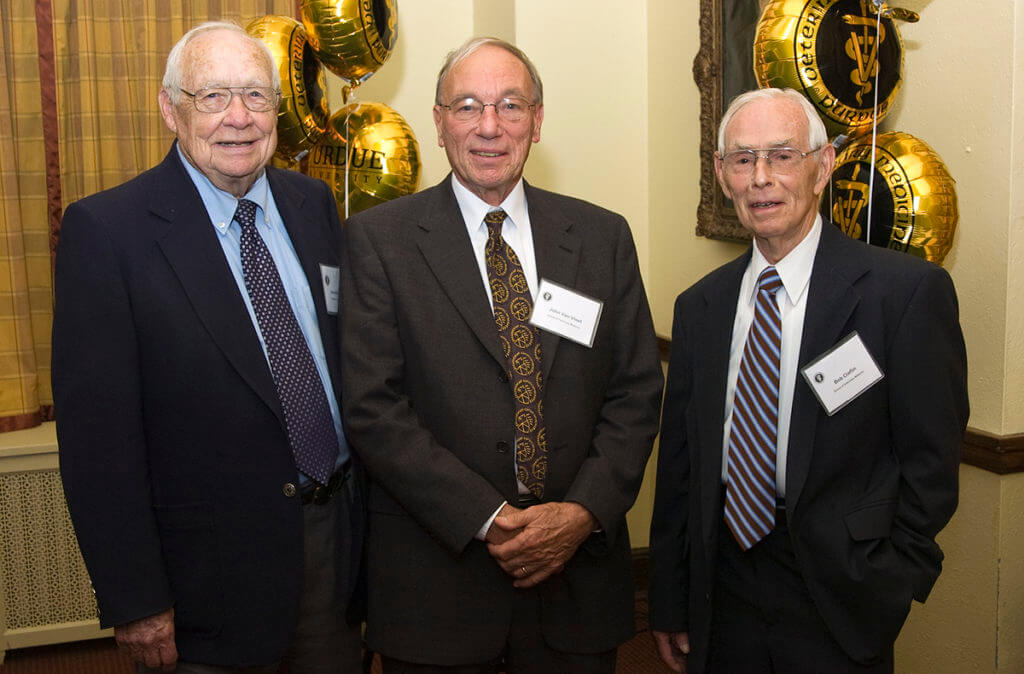 Dr. Claflin pictured with Dr. Van Vleet and Dr. Goetsch