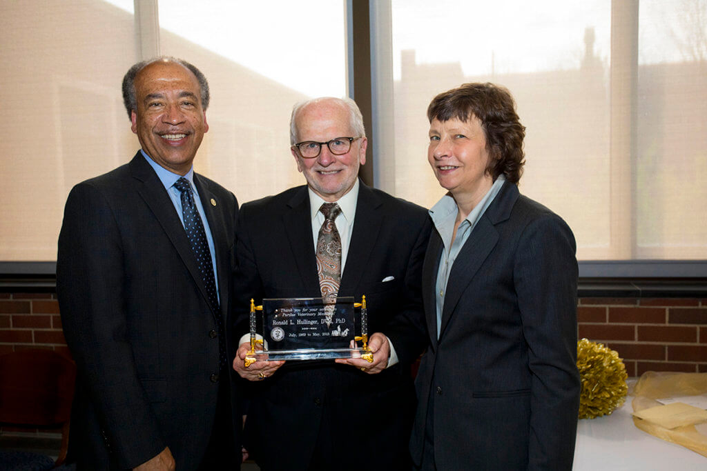 Dr. Hullinger pictured with Dean Reed and Dr. Laurie Jaeger