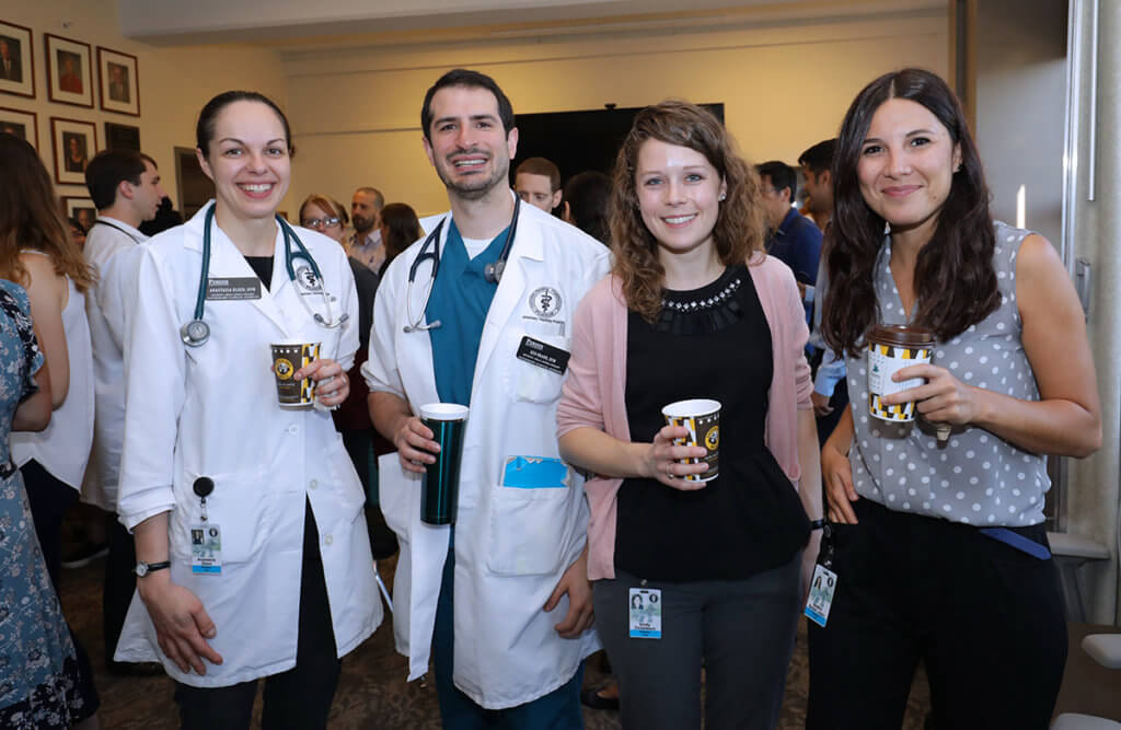 residents pictured at welcome reception
