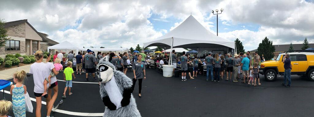 McAfee Animal Hospital anniversary celebration pictured