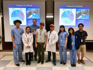 Kitasato visitors pictured with Dr. Steve Thompson