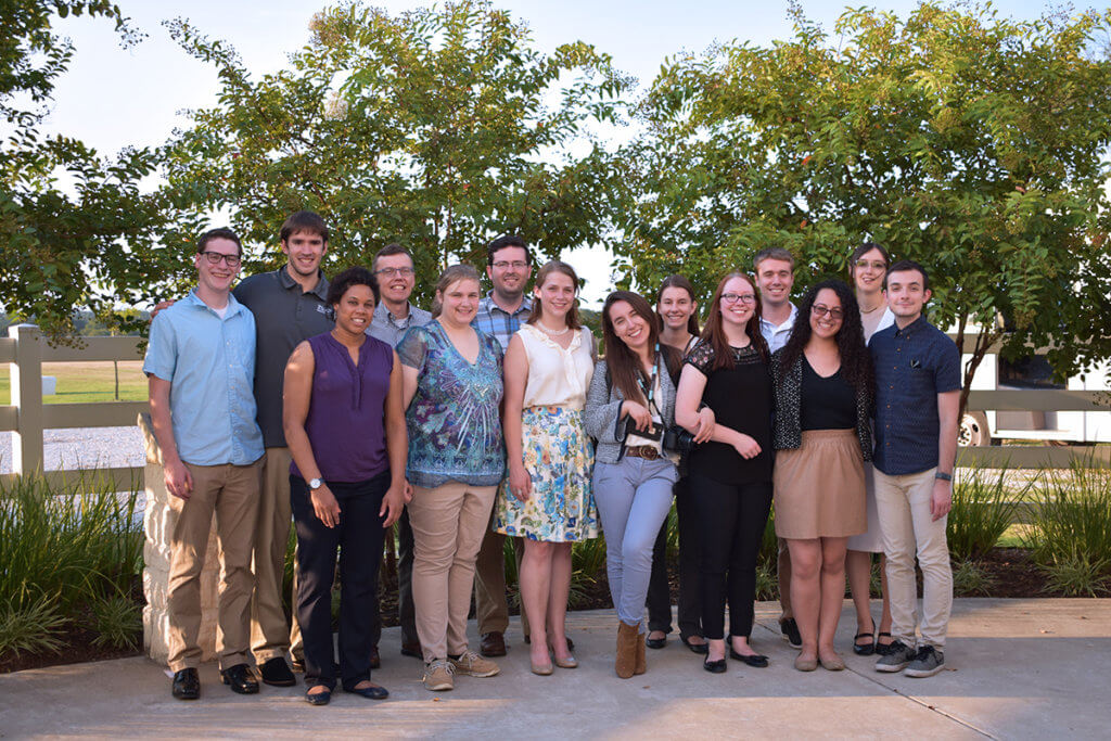 Summer Research Program participants pictured at symposium
