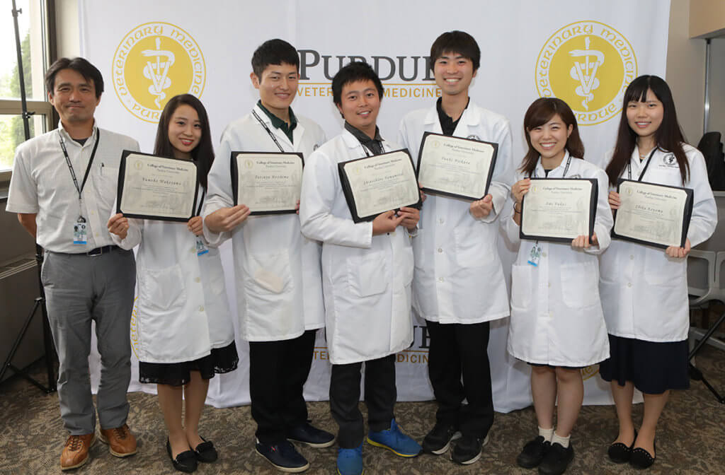 Kitasato University visitors pictured
