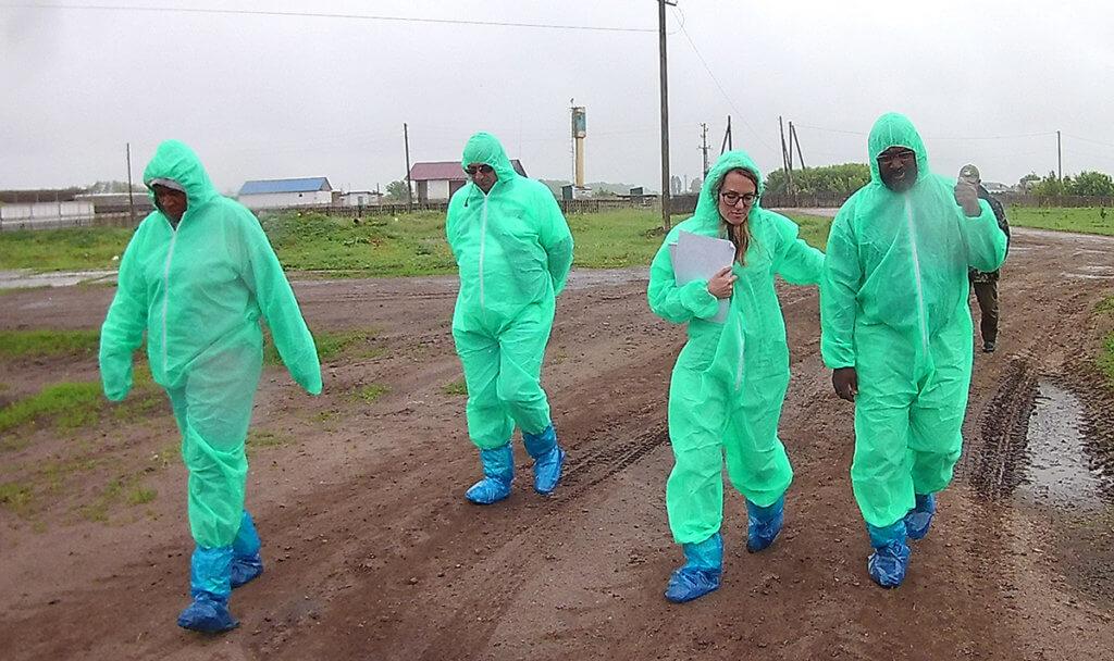 Dr. Darryl Ragland and international team pictured in Ukraine
