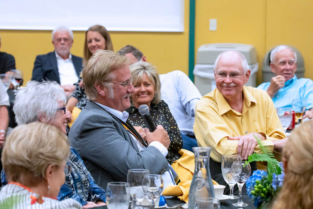 Bill Blevins pictured with fellow attendees at the 50th Anniversary Class Reunion Dinner.