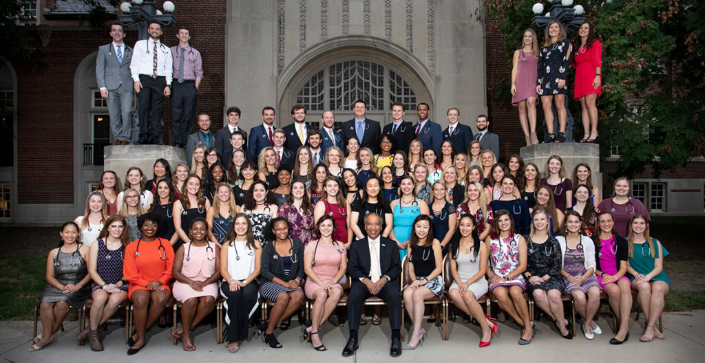 DVM Class of 2022 pictured at the DVM Stethoscope Dinner
