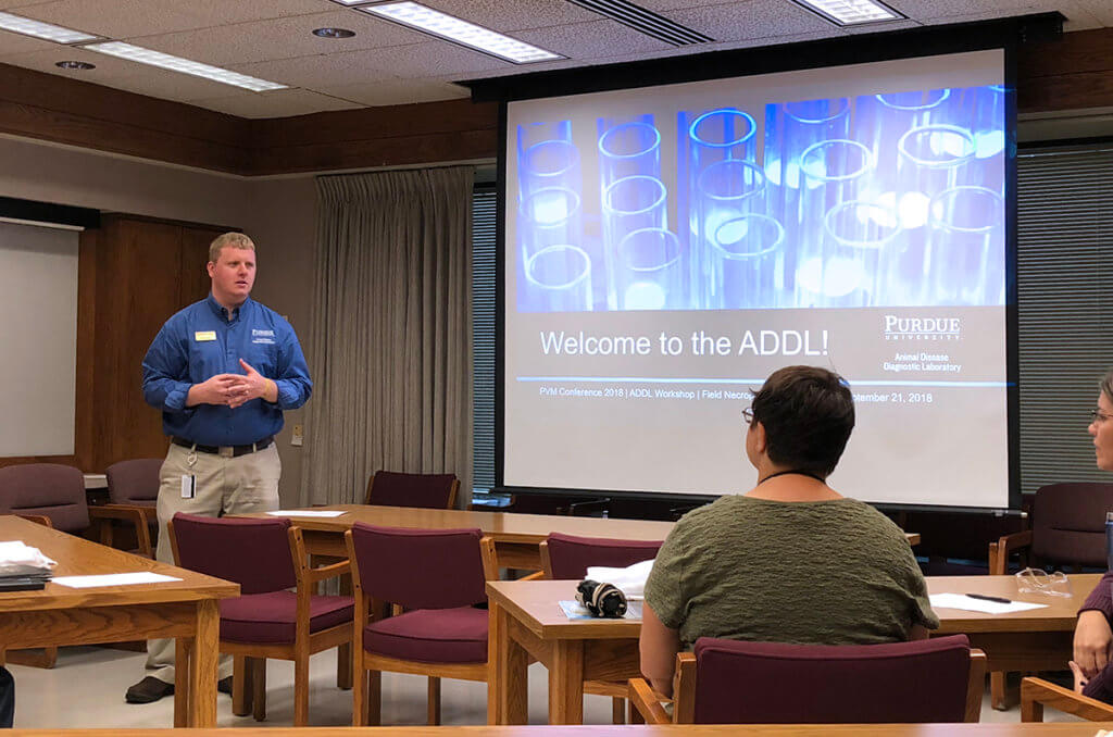 Dr. Craig Bowen pictured with workshop attendees