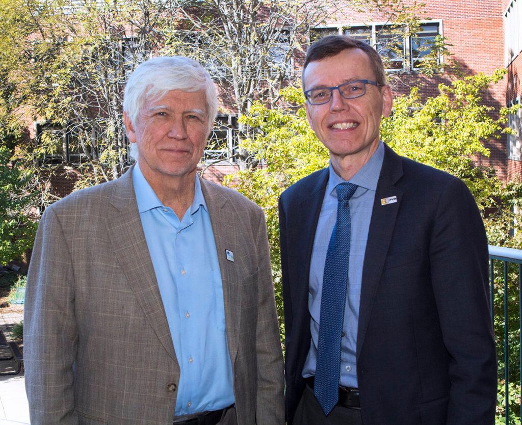 Russ Mittermeier pictured with Dr. HogenEsch