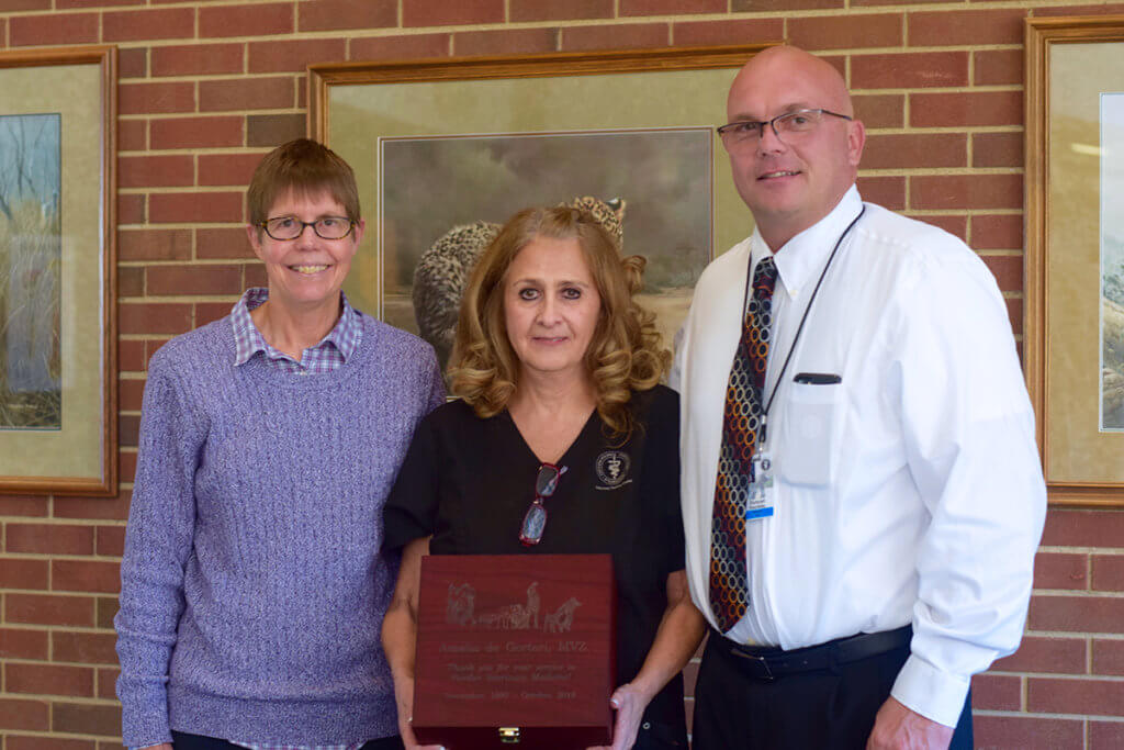 Amalia pictured with Dr. Knapp and Dr. Hockley