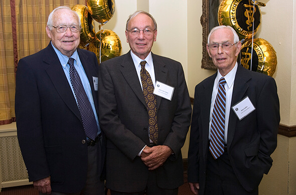 Dr. Claflin pictured with Dr. John Van Vleet and Dr. Gerald Goetsch