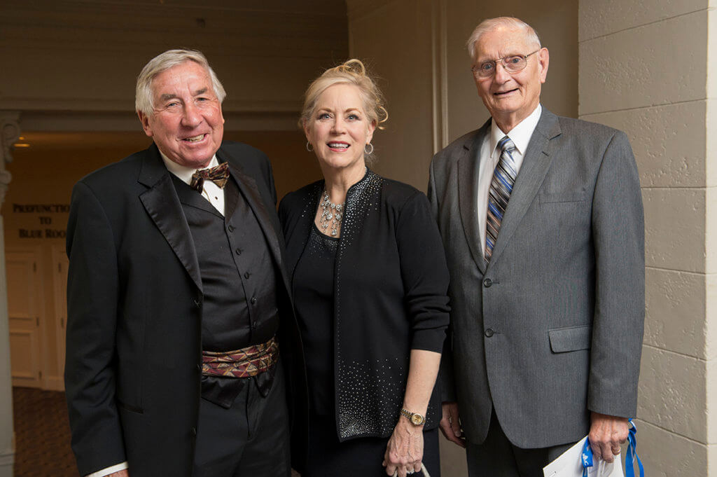 Dr. Billy Hooper pictured with Dr. John Wexler and former president of the AAVMC, Dr. Eleanor Green