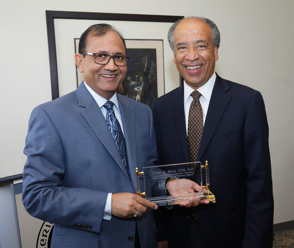 Dr. Suresh Mittal pictured with Dean Reed