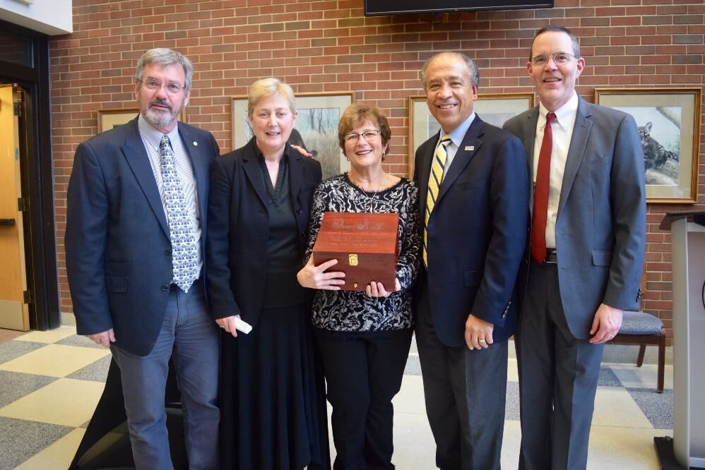 Dr. Lyn Freeman pictured with Gert Breur, Catharine Scott-Moncrief, Dean Reed and Dane Miller