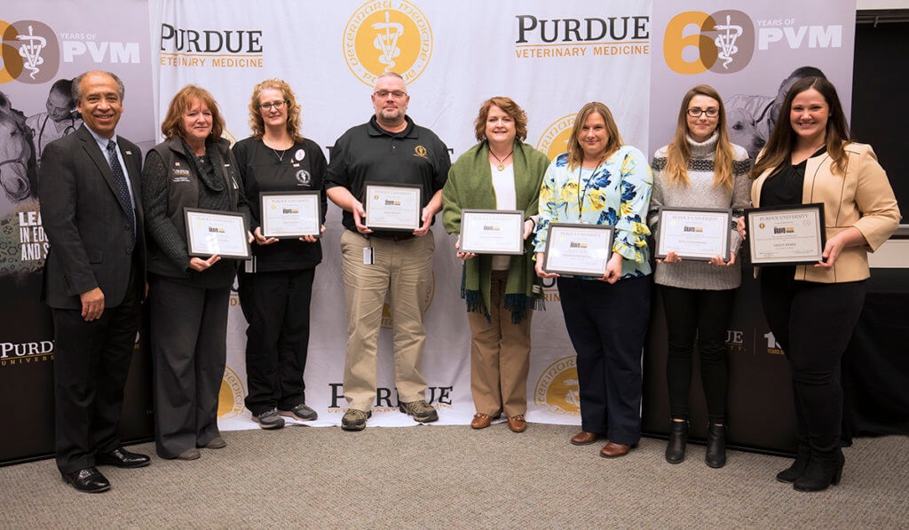 Fall 2018 Bravo Award winners pictured with Dean Reed