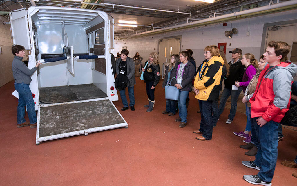 Robin Ridgeway demonstrates trailer safety