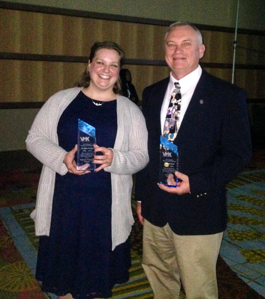 Megan Brashears and Dr. Nickie Baird pictured with VMX Speaker of the Year Awards