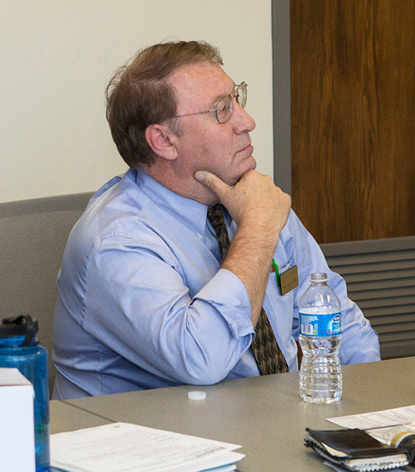 Dr. Logue pictured during a PVAA board meeting