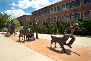 Purdue Veterinary Medicine's Continuum Sculpture