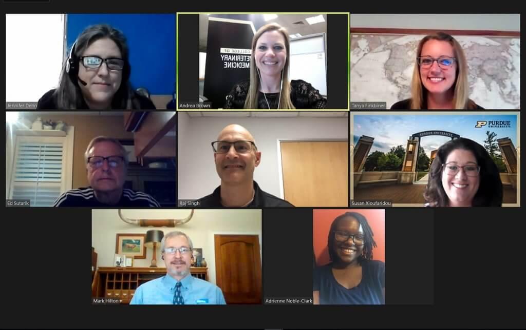 Screenshot of panelists, coordinators, and moderator