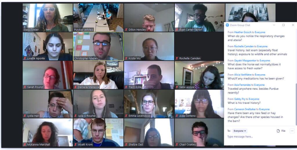 screenshot of a class underway using Zoom