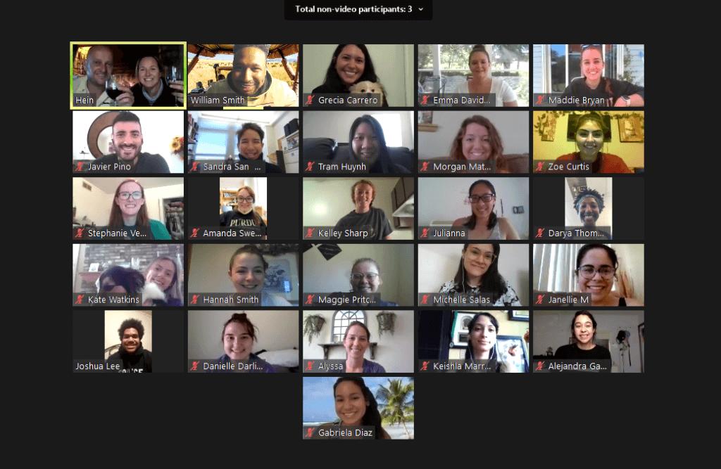 screenshot of Zoom meeting participants