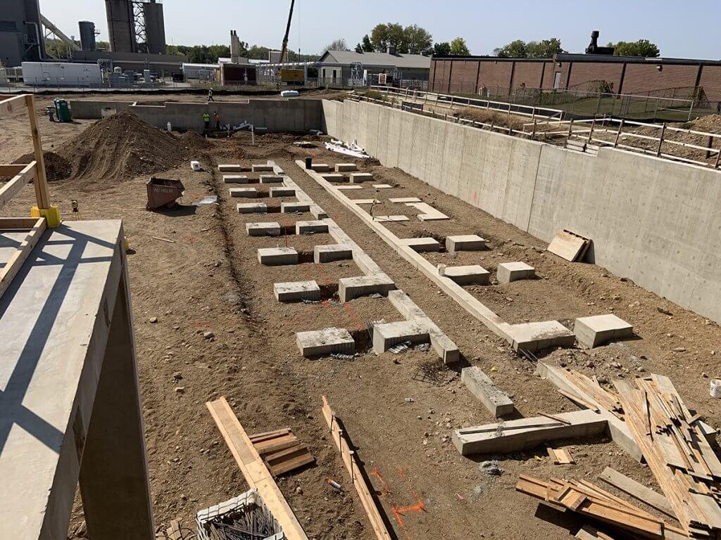 progress at construction site shown