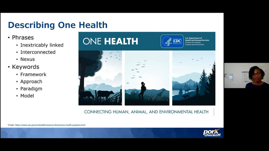 A screenshot of Dr. Fowler sharing her presentation online
