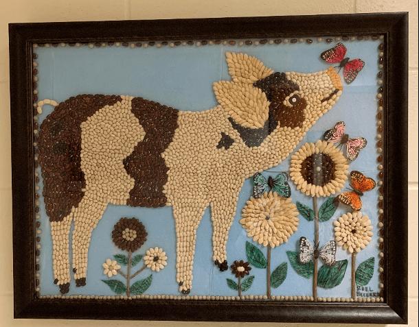 artwork of a pig