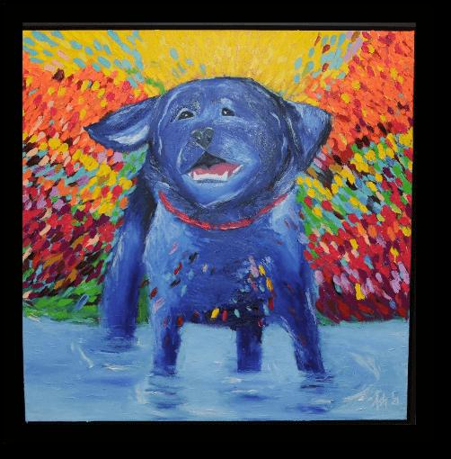 artwork of a dog