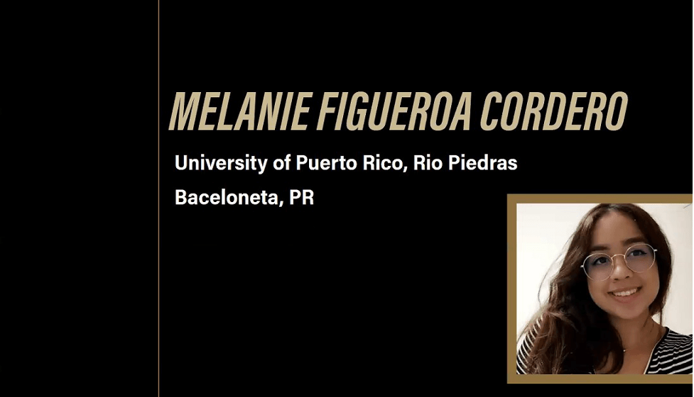 Melanie Figueroa Cordero, one of the 26 graduates in the Vet Up! College Class of 2021, was honored along with fellow graduate Kyra Holt as a recipient of the Academic Excellence Award during the virtual Graduation Celebration.