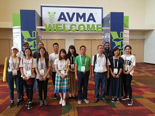During the exchange visit, students took part in the annual AVMA Convention in Indianapolis.