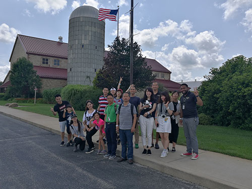 The itinerary for the two-week visit included a visit to Fair Oaks Farms, along with a variety of fun activities introducing the delegations to Indiana and local attractions and culture.