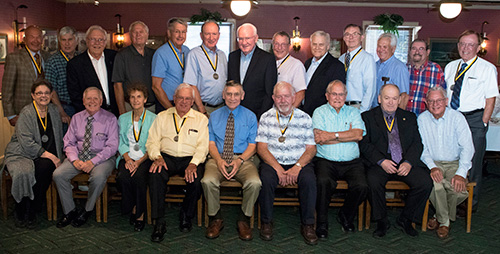 Members of the 50th Anniversary Class at their reunion dinner Friday night, September 22.