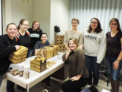 Members of the Veterinary Technology Class of 2020 won the Zombie Apocalypse event during One Health Week and received a free breakfast from the One Health Club: (left-right) Lauren Bacon, Kay Hagen, Megan Pickering, Erica Wright, Evy Foster, Marissa Koehler, Rachel Tonne, and Lily Arnold.