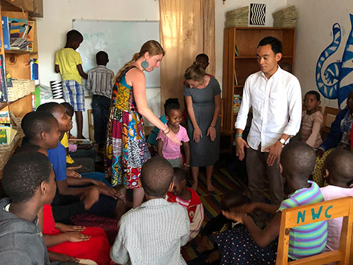 Odalys visits the Nyamirambo Women's Center library where children off from school go to read, sing and dance.